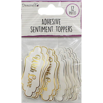 Dovecraft Essentials Die Cut Toppers - With Love - 12 Pack image number 1