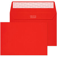 Red C6 Wallet Self Seal Envelopes Pack Of 25