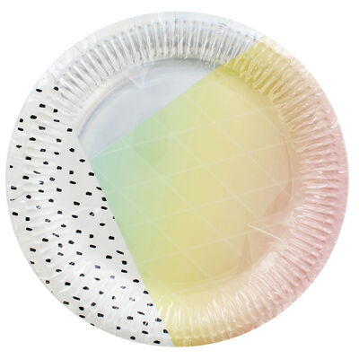 Pastel Rose Party Plates - 8 Pack image number 1