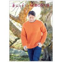 Hayfield Bonus DK: Men's Sweater Knitting Pattern 8286