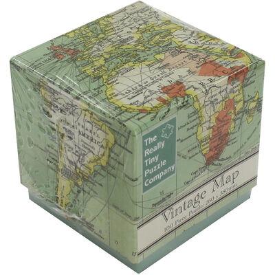 Vintage Map Cube 100 Piece Jigsaw Puzzle image number 1