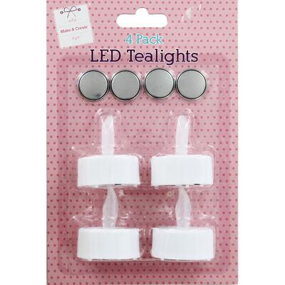 LED Tealights - 4 Pack image number 1