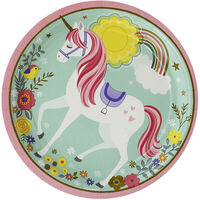 Magical Unicorn Paper Plates - 8 Pack