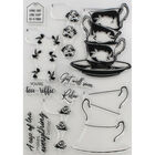 Crafters Companion Layering Stamp - Floral Tea Cups image number 3