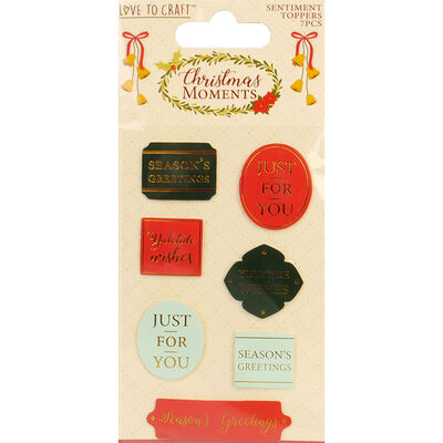 Christmas Moments Sentiment Toppers Pack of 7 image number 1