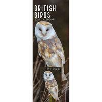 British Birds 2021 Slim Calendar and Diary Set