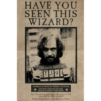 Harry Potter Wanted Sirius Black Wall Poster