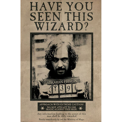 Harry Potter Wanted Sirius Black Wall Poster image number 1