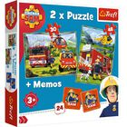 Fireman Sam 2-in-1 Jigsaw Puzzle Set image number 1
