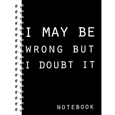 A4 I May Be Wrong Notebook image number 1