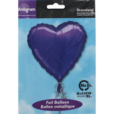 18 Inch Purple Heart Helium Balloon image number 2