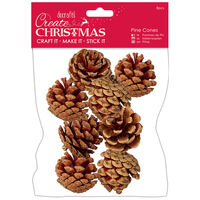 Large Pine Cones: Pack of 8