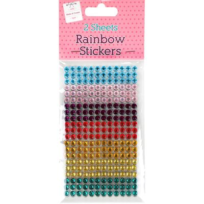 Rainbow Gem Stickers 2 Sheets image number 1