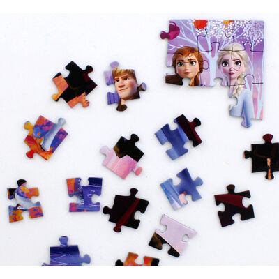 Disney Frozen 2 Anna Elsa and Kristoff Mini 54 Piece Jigsaw Puzzle image number 3