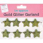 Gold Glitter Garland 1m image number 1