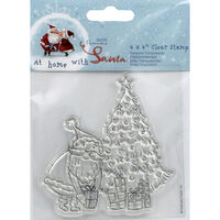 At Home with Santa Tree Clear Stamp