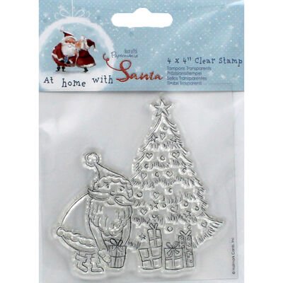 At Home with Santa Tree Clear Stamp image number 1