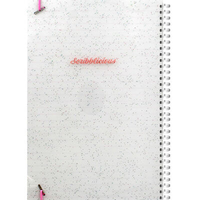 B5 Pink Glitter Your Dreams Lined Wiro Notebook image number 3