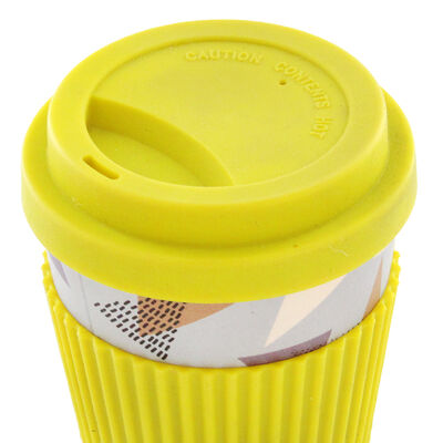 Retro Diamond Bamboo Eco Travel Mug image number 3
