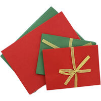 20 Create Your Own Green and Red Greeting Cards - 5x7 Inches