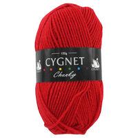 Cygnet Chunky Red Yarn - 100g