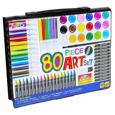 Grafix 80 Piece Children's Art Set image number 1