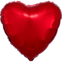 18 Inch Red Heart Helium Balloon