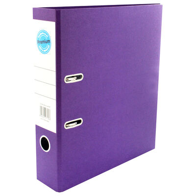 A4 Purple Lever Arch File image number 1