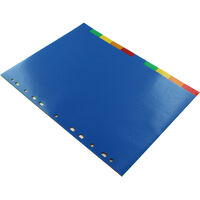 A4 Coloured Dividers - 10 Pack