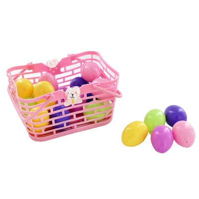 Easter Basket with Fillable Eggs - 20 Pack image number 3