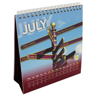 Aston Villa Football Club Desk Calendar 2020 image number 4