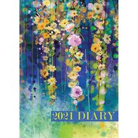 A5 Floral 2021 Week To View Diary