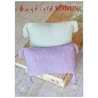 Hayfield Bonus DK: Wild Oats & Plaited Basket Stitch Cushions Knitting Pattern 10263