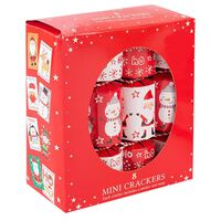 Assorted Mini Christmas Crackers: Pack of 8