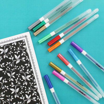 Metallic Gel Pens - 12 Pack image number 2