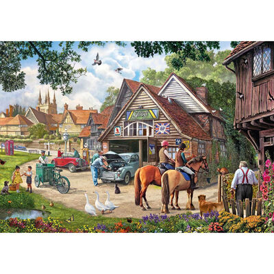 The Old Garage 1000 Piece Jigsaw Puzzle image number 2