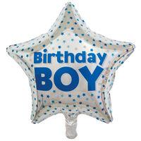 19 Inch Birthday Boy Star Helium Balloon