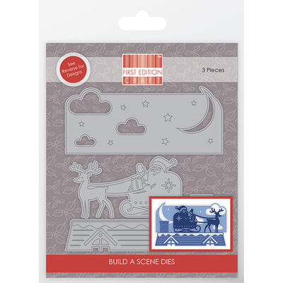 Christmas Sky Build a Scene Metal Die Set image number 1
