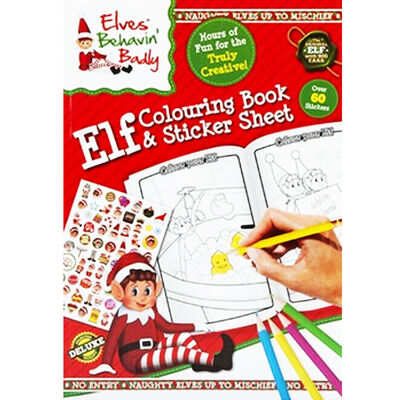 Christmas Elf Colouring Book with Sticker Sheet image number 1