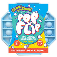 Pop 'N' Flip Bubble Popping Fidget Game: Assorted Glow in the Dark Octagon