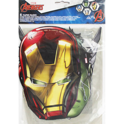 Avengers Paper Party Masks - 6 Pack image number 1