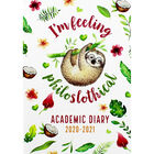 A5 Philo-sloth-ical Week to View 2020-21 Academic Diary image number 1