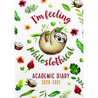 A5 Philo-sloth-ical Week to View 2020-21 Academic Diary