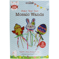 Make Your Own Mosaic Easter Wands