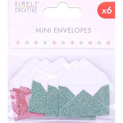 Green Red Mini Envelopes - 6 Pack image number 1
