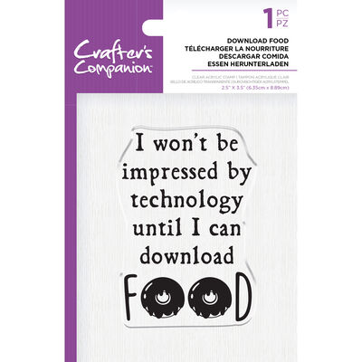 Crafters Companion Clear Acrylic Stamp - Download Food image number 1
