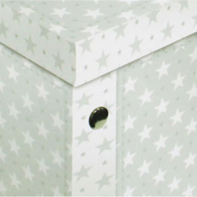 Grey White Star Collapsible Storage Box image number 2