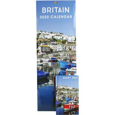 Britain 2020 Slim Calendar and Diary Set image number 1