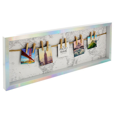 Travel Theme Photo Frame with Pegs image number 1