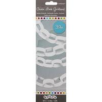 White Paper Chain Link 4m Garland